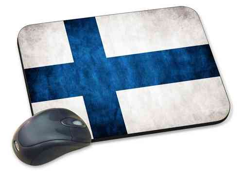 Finland Flag, High Precision Mouse Mat for Laser Mice.
