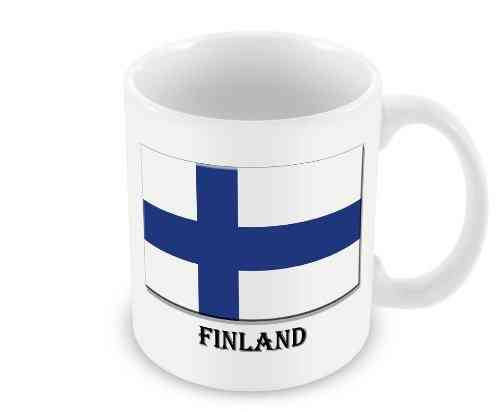 Mug with the Flag of Finland