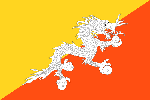 Flag of Bhután
