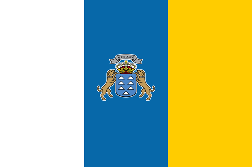 Flag of Canary Islands (Spain)