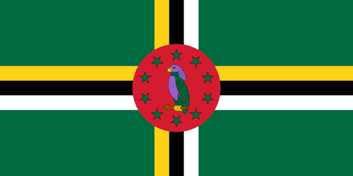 Dominica flagga