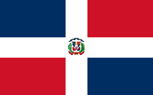 Flag of Dominican Republic - Bandera de la República Dominicana