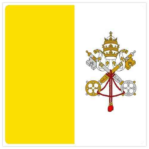 Flag of Holy See (see Vatican City)