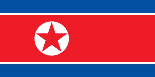 Flag of North Korea - 홍람오각별기