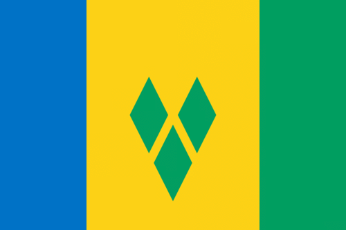 Saint Vincent och Grenadinerna flagga
