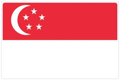 Flag of Singapore - Bendera Singapura