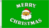 Merry Christmas Santa Claus Green Flag