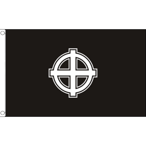Celtic Cross (Black) Flag