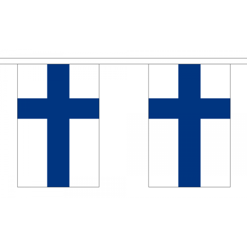 Finland Bunting, 10 flags - 3 meters