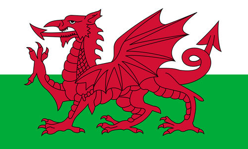 Walesin lippu - Flag of Wales