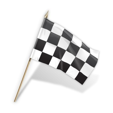 Black and White Check Extra Large Hand Flag 30 * 45 cm