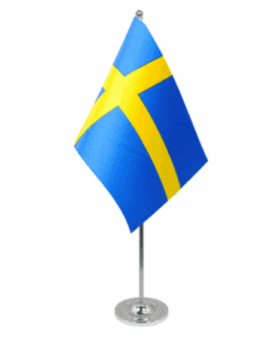 Svenska flaggan -bordsflagga set